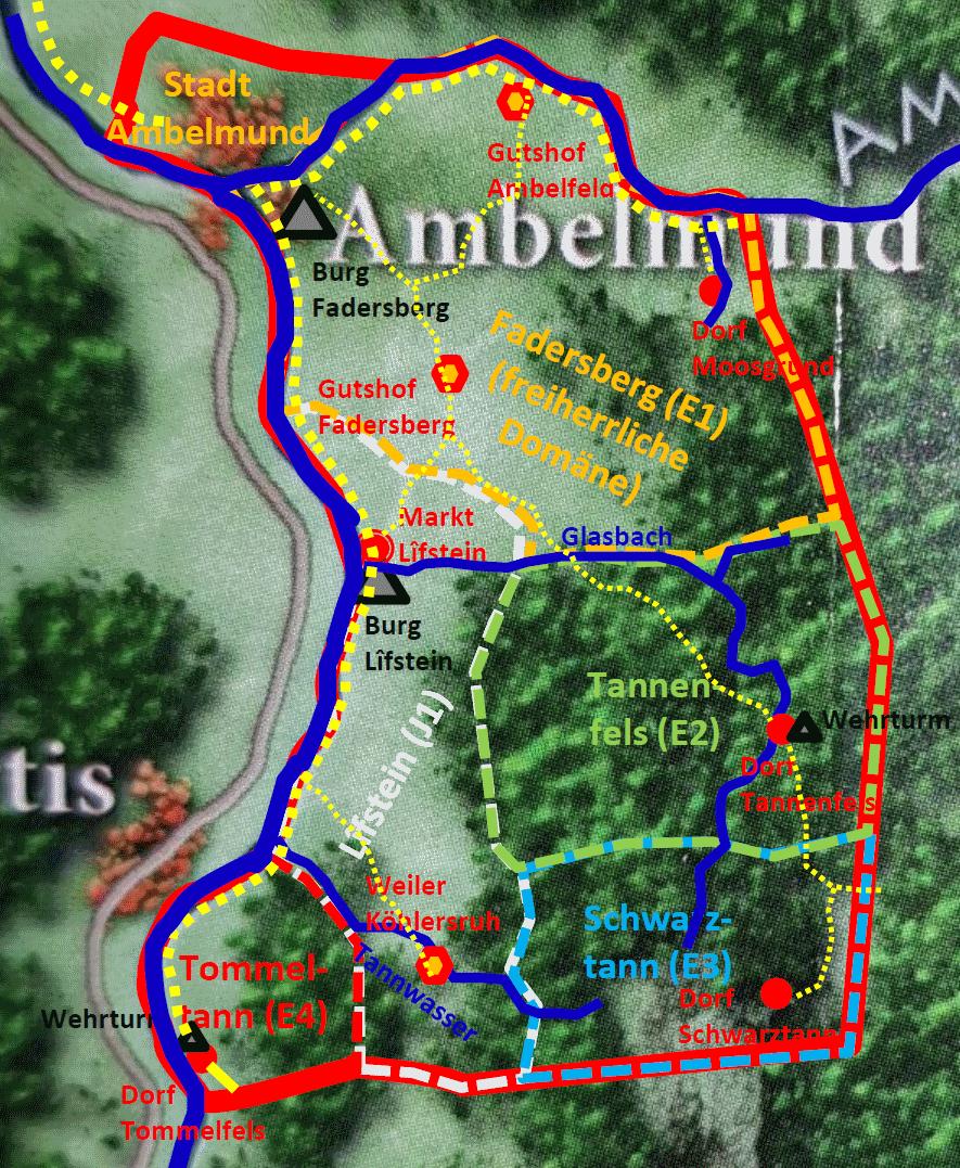 Karte der Baronie