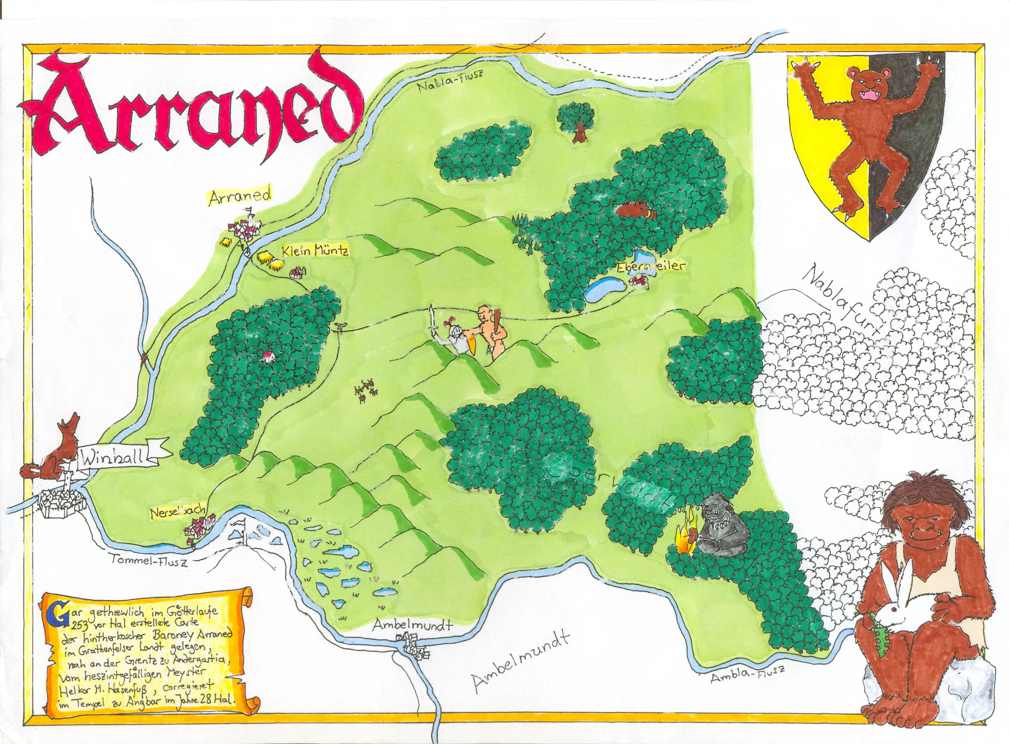 Karte Arraned (c) M. Lorber