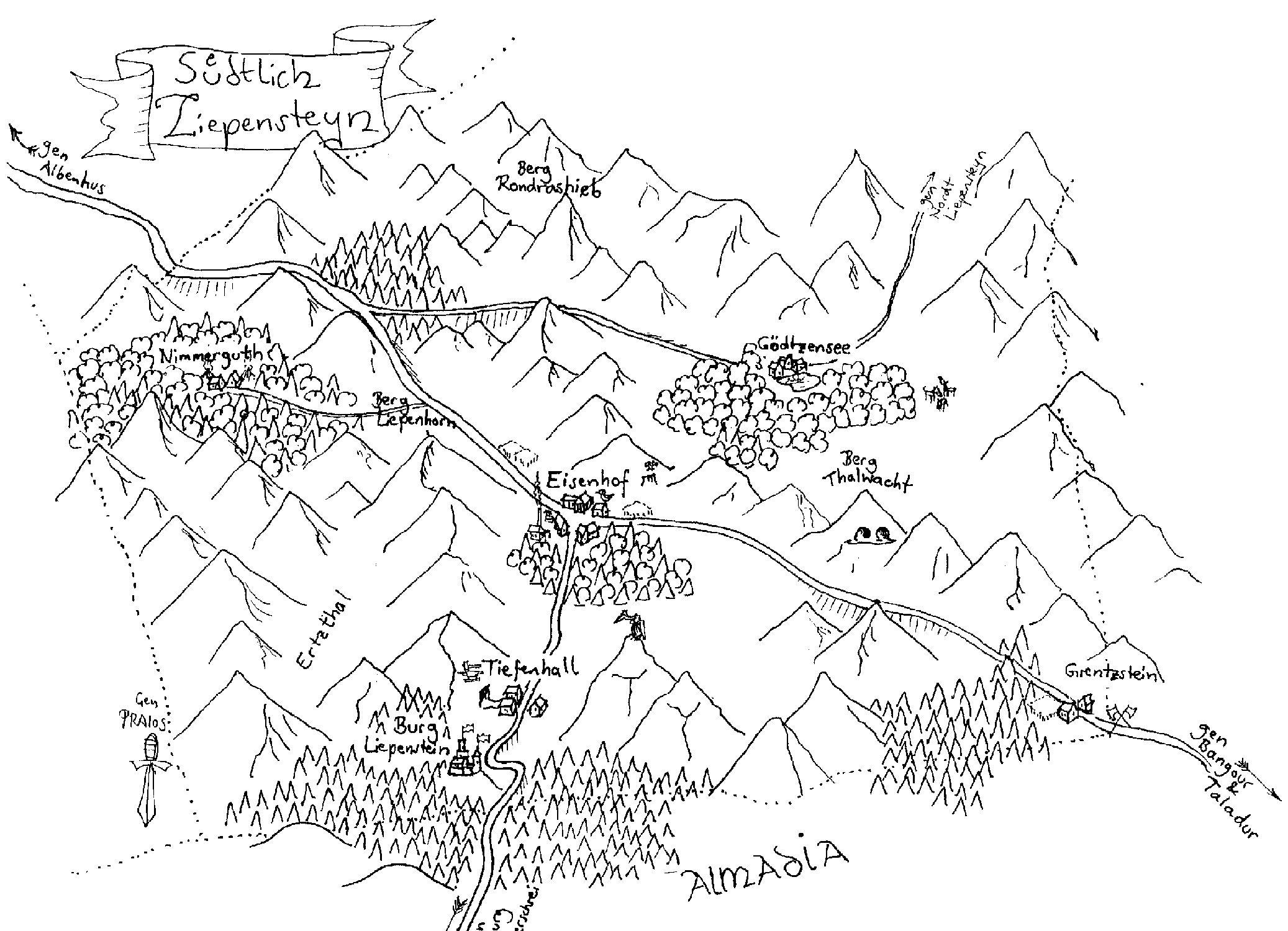 Karte Süd-Liepenstein (c) M. Lorber