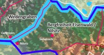 Vogtei Nilsitz über der Bergfreiheit Eisenwald